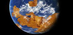 So könnte der Planet Venus einst ausgesehen haben: Kontinente und Meere wie bei der Erde.