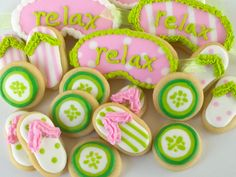 Spa Party Mini Sugar Cookies- 1.5 Dozen for Elisabete. $15.98, via Etsy.