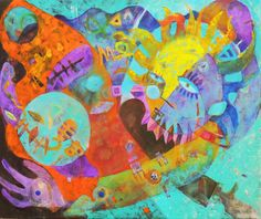 Miguel Curani. Artista plástico: arlequino (oleo s/tela50x60cm)