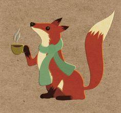 Renard the Fox Enjoying Coffee. by postcardsandlove, via Flickr