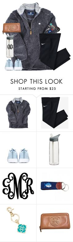 """""""stay close to anything that makes you glad that you're alive."""" by kaley-ii ❤ liked on Polyvore featuring NIKE, CamelBak, Southern Tide, Kendra Scott and Tory Burch"""