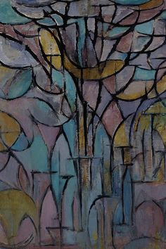 Trees' painting by Piet Mondrian. Vintage wall art for sale; fine art prints and painting reproductions Canvas Art, Canvas Prints, Dutch Painters, Dutch Artists, Art Moderne, Monochrom, Kandinsky, Tree Art, Surreal Art
