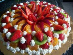 Sweet home: Fruit and marjatordid Cupcakes, Cupcake Cakes, Delicious Fruit, Yummy Food, Fruit Recipes, Dessert Recipes, Fruit Dessert, Fresh Fruit Cake, Pastry Cake