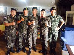 Lee Seung Gi, Yunho, Eunhyuk, and Shindong gather for upcoming army festival…