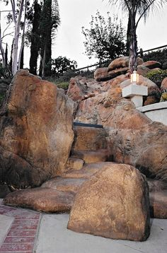 Custom Water Features Faux Rock Products I Love Pinterest Gardens Home And Water Features
