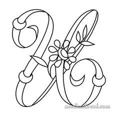 Monogram for Hand Embroidery: 'U' via the fabulous Mary Corbet