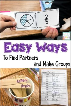 Help students find partners quickly and easily with these fun ideas! Save your teacher sanity by giving students new and fun ways to find a partner or make a group.