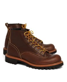 <B> Brooks Brothers exclusive</B>  For more than a century, Red Wing has proudly stood for getting the job done right. Today, the gold standard in work footwear combines the finest leathers, premium handcraftsmanship, and uncompromising quality with new technologies for the next generation of comfort, style and durability. The Lineman Boot is made from maize Abilene leather and features a Vibram® lug sole. Triple-stitched Goodyear® welt construction. For ultimate care, use leather cleaner…