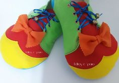 Sapato de palhaço com molde
