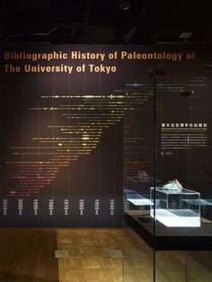 """Paleontology of the University of Tokyo"" exhibit @ University Museum, the University of Tokyo by Nakano Design Office"