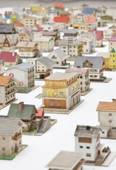 The 387 Houses of Peter Fritz 1916 1992 Insurance Clerk From Vienna an enchanting selection of model buildings curated by Oliver Croy and Oliver Elser 2013 Venice Bienna. Art Origami, Venice Biennale, Glitter Houses, Paper Houses, Model Building, Stop Motion, Art Plastique, Clipart, Kitsch
