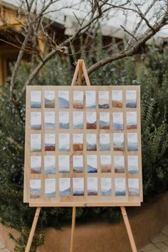 Eclectic West Texas seating chart | Jennifer Moher Photography