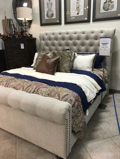 Windville Queen Upholstered Sleigh Bed Pinteres