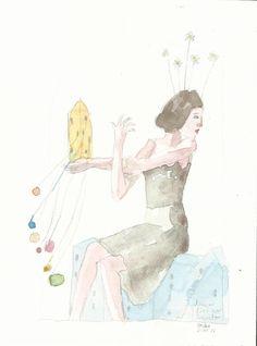 ( Watercolor Print  VI )    17x23 cm     20€