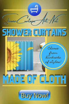 Drastically enhance your bathroom decor with a soft & stylish fabric shower curtain from Shower Curtain Art! Shower Curtain Art, Cool Shower Curtains, Floral Shower Curtains, Modern Bathroom Design, Bathroom Interior Design, Curtains With Blinds, Bathroom Fixtures, Custom Fabric, Master Bathroom