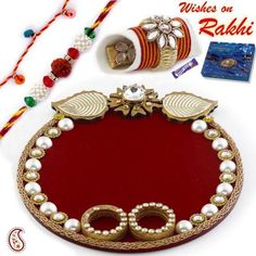 The festival of rakhi is on your door! Learn how to decorate Thali for Rakhi with these amazing collection of thali decoration ideas! Housewarming Decorations, Diy Diwali Decorations, Diwali Diy, Diwali Craft, Arti Thali Decoration, Pista Shell Crafts, Lantern Crafts, Handmade Rakhi Designs, Indian Wedding Gifts