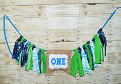 Monsters Inc High Chair Banner,Mike Wizowski High Chair Banner,One Banner,Sulley Birthday Banner,Rag Banner,st Birthday, Photo Prop by RYLOwear on Etsy
