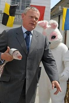 Happy Easter Martin Clunes fans! Never has a man holding a fish looked hotter!