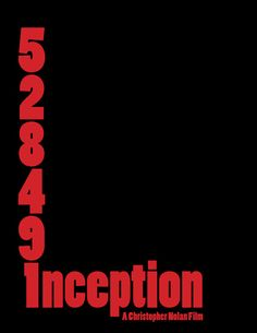 Inception (2010) ~ Minimal Movie Poster by dgbgd #amusementphile
