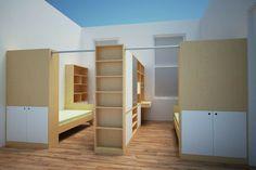 How to Divide a Shared Kids' Room — Casa Kids Bedroom Divider, Bedroom Decor, Ikea Room Divider, Room Divider Bookcase, Bedroom Storage, Casa Kids, Shared Bedrooms, Shared Kids Rooms, Boys Shared Bedroom Ideas