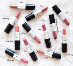 MAC Matte Satin Cremesheen Lipstick Collection Swatches Review