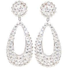 """2.5"""" Dangle Teardrop Pave' Earring in Crystal"""
