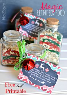Magic Reindeer Food AND Free Printable Labels via Hip2Save: It's Not Your Grandma's Coupon Site!