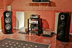 High end audio audiophile TAD Reference One Speakers with TAD electronics...
