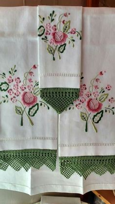 Border Embroidery Designs, Embroidery Patterns, Hand Embroidery, Crochet Patterns, Cheap Flower Girl Dresses, Container Flowers, Vintage Embroidery, Pillowcases, Crochet Lace