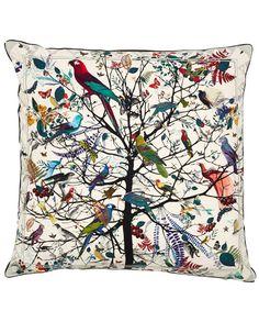 Kristjana S Williams Studio Hjartur Tre Print Cotton Cushion | Cushions by Kristjana S Williams Studio | Liberty.co.uk