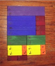 Rhythm Blocks | Layton Music Games and Resources - Using Cuisenaire Rods to teach music