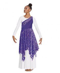 a67644a97b1a Eurotard 82567 Passion of Faith Asymmetrical Praise Tunic Praise Dance  Wear, Worship Dance, Mesh