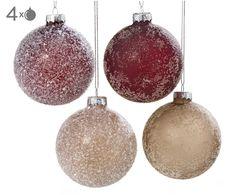 weihnachtskugel-set tijana - Google Zoeken Little Presents, December Daily, Christmas Bulbs, Beige, Holiday Decor, Gifts, Home Decor, Google, Products