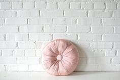 Pillow+-+Pink+Button: