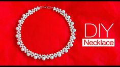 How to make pearl bridal necklace   DIY easy pearl necklace   pearl jewe...