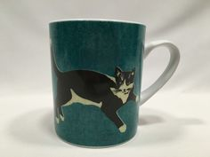 Magpie Kitt the Cat Mug Meow Series 4″ Green #Magpie