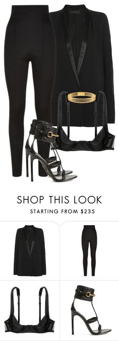 """""""Untitled #112"""" by bfashion91 ❤ liked on Polyvore featuring Haider Ackermann, Balmain, La Perla, Gucci, Arme De L'Amour and patternmixing"""