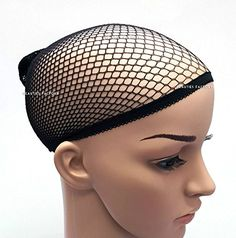 BF 2x Brand New Elastic Stretchy Wig Cap Stocking Control Hair Under Wig Color Black CODE 1008BK ** More info could be found at the image url.(This is an Amazon affiliate link and I receive a commission for the sales)