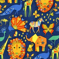 Fabric... Origami Oasis Pride in Navy by Michael Miller Fabrics