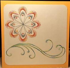 Blumen 20 Motiv: Deco Flower von Darsie Bruno  Format 13,5 x 13,5 cm gearbeitet mit Madeira Polyneon No 40 Multicolor