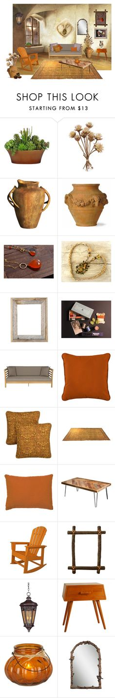 """""""Autumn Evening in Santa Fe"""" by funkyjunkygypsy ❤ liked on Polyvore featuring interior, interiors, interior design, home, home decor, interior decorating, Capital Garden Products, Safavieh, Improvements and Grand Basket"""