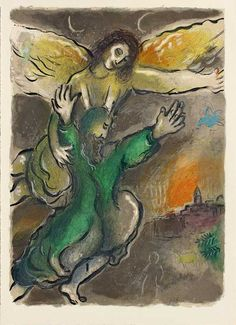 "Marc Chagall | ""Exodus - Moses Views The Promised Land"" 