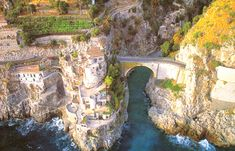 Fjord of Furore in Furore, Amalfi Coast, Italy