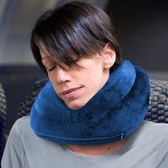 "CABEAU ""Air Evolution"" Inflatable Neck Pillow + Small Bag - It Works! - CABEAU BLUE"