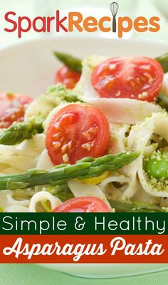 Chicken & Asparagus Pasta. I loved this, and I love that you can add any vegetables you want to make it yummy. I added yellow squash, asparagus, and carrots. It looked pretty and tasted wonderful. My husband walked into the house and said it smelled like a restaurant. With all of the added veggies, we have a ton of leftovers!| via @SparkPeople #pasta #chicken #dinner #recipe #healthy