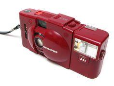 Olympus XA2 XA 2 Compact Rangefinder Camera Red