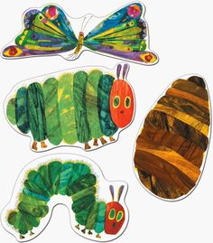 "x --*""The Very Hungry Caterpillar(TM)"" header --*A resource guide --(C) 2009 Eric Carle LLC. Very Hungry Caterpillar Printables, Hungry Caterpillar Classroom, Caterpillar Art, Eric Carle, Calendar Activities, Sorting Activities, Cocoon, Game Pieces, Book Art"