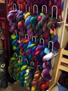 felting studio -wool storage