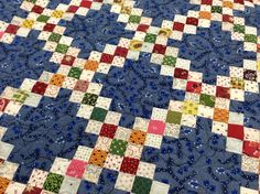 Karen Styles: A long overdue 'Show and Tell'. Old Quilts, Antique Quilts, Scrappy Quilts, Triangles, Irish Chain Quilt, Postage Stamp Quilt, Bright Quilts, Patch Quilt, Quilt Blocks