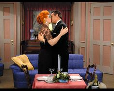 Lucille Ball  Desi Arnaz kiss on I Love Lucy. #TV #Television